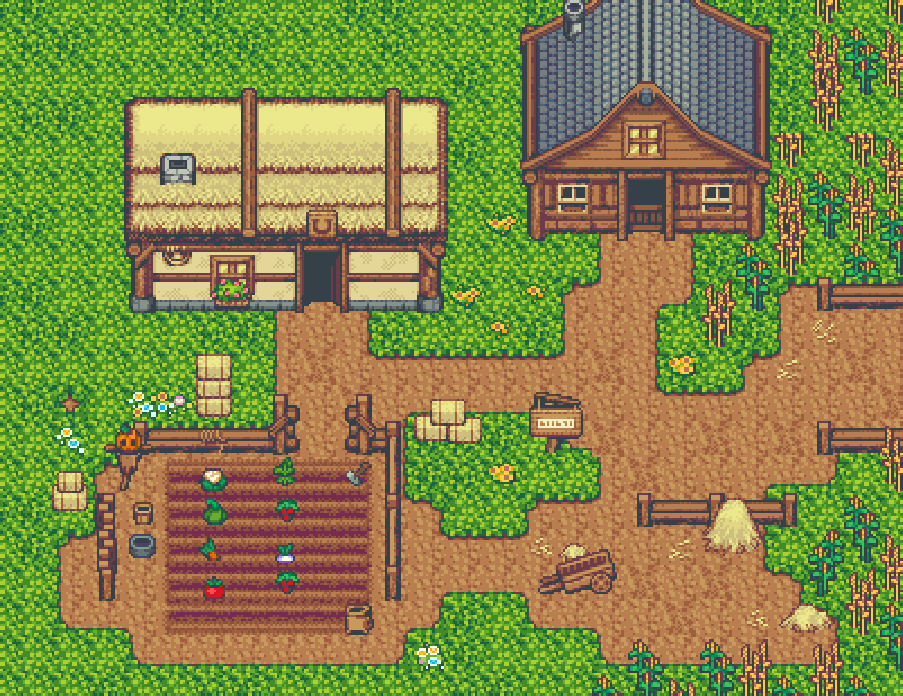Farm and Fort RPG Tiles and Icon Pack by finalbossblues