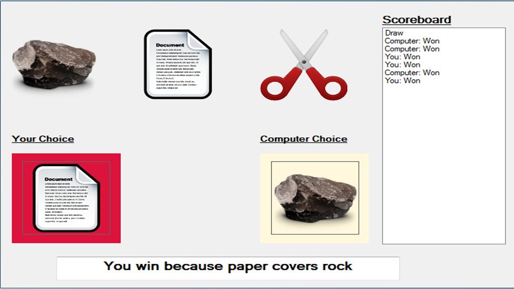 Rock, Paper, & Scissors