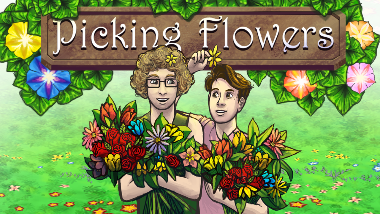 Picking Flowers with Jonathan and Tanya
