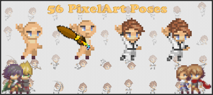 56 Pixelart Poses
