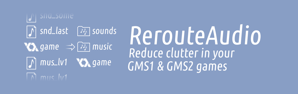 RerouteAudio for GameMaker