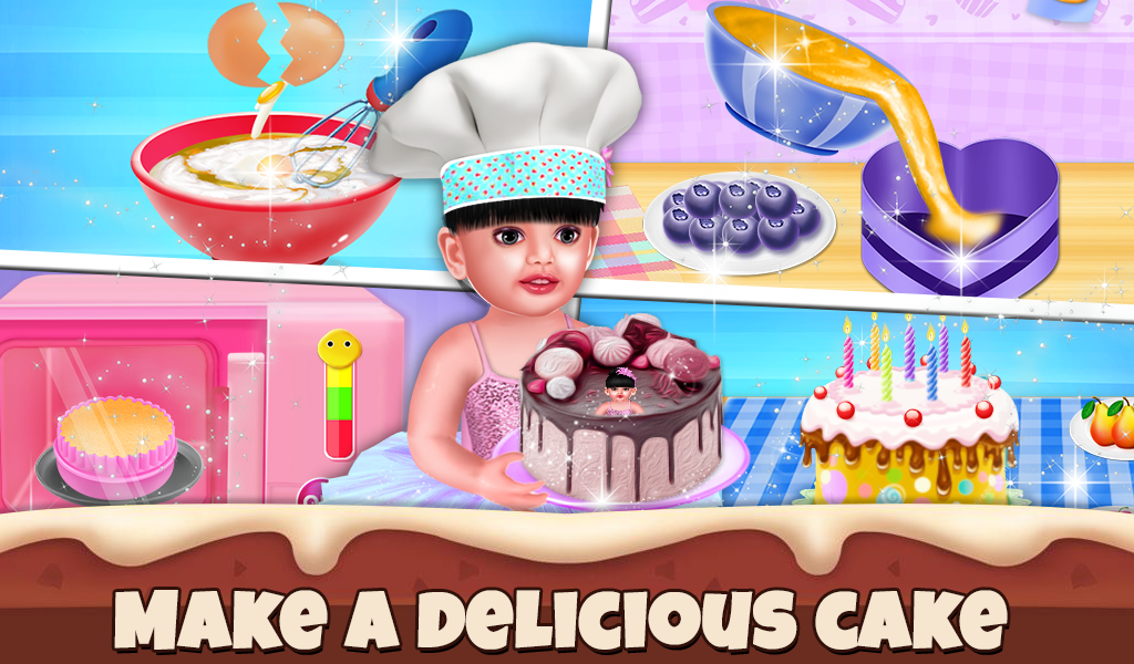 Baby Aadhya Birthday Cake Maker Cooking Game By Games
