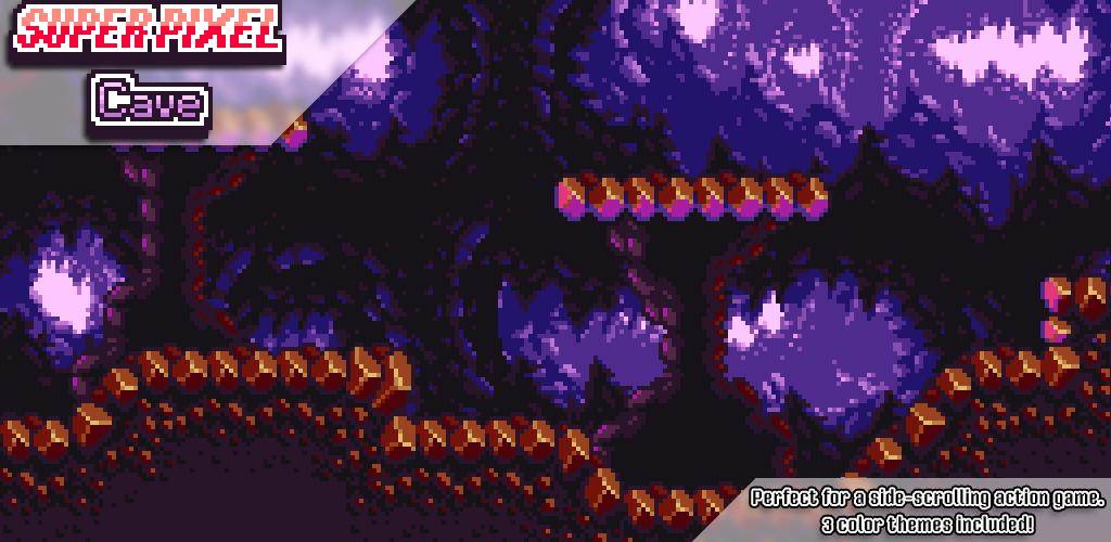 Super Pixel Cave Tileset