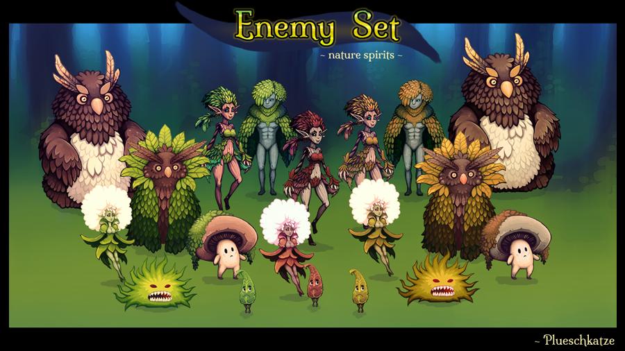 Enemy Set - Nature Spirits [RPG MAKER]