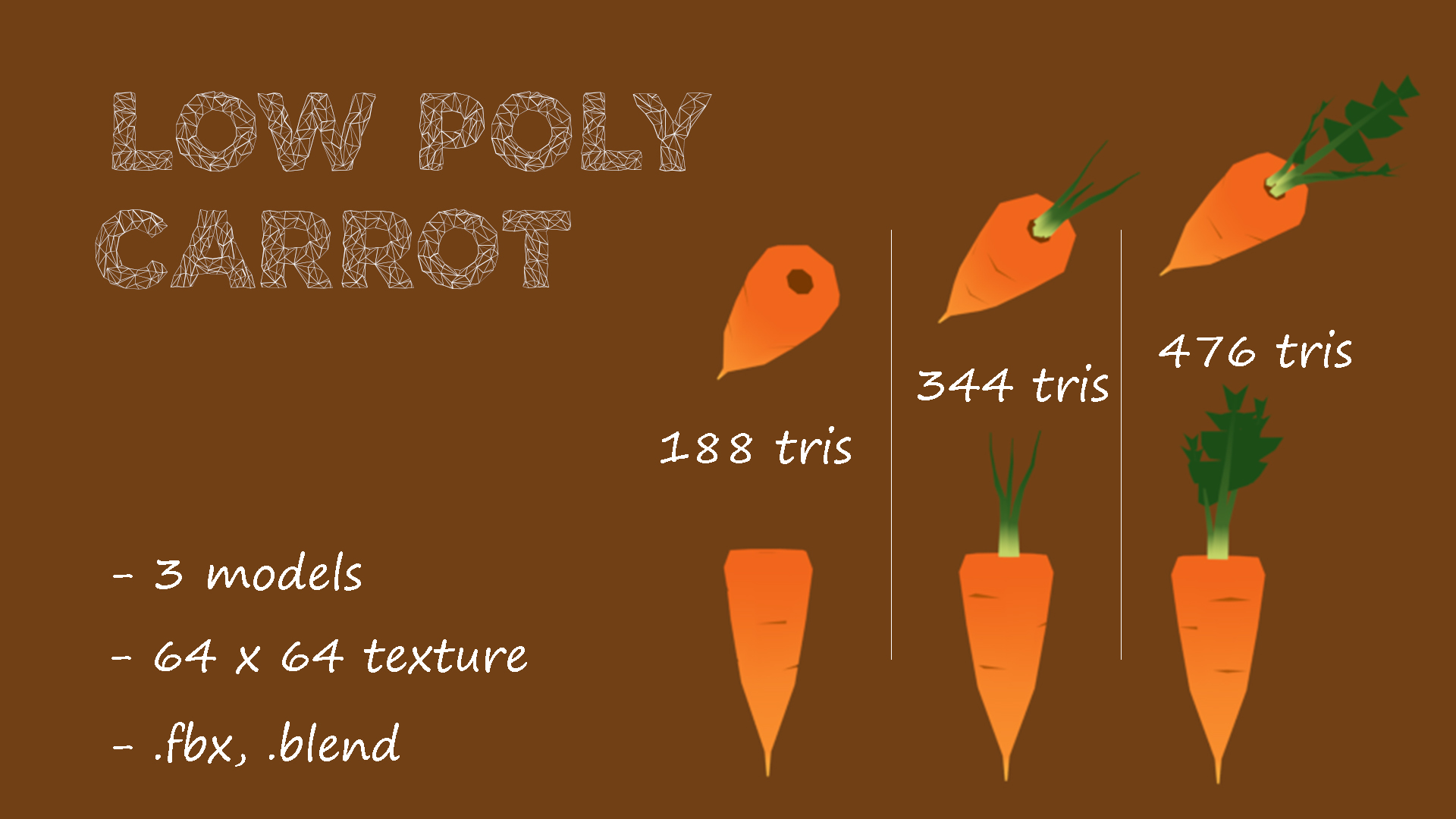 Low Poly | Carrot