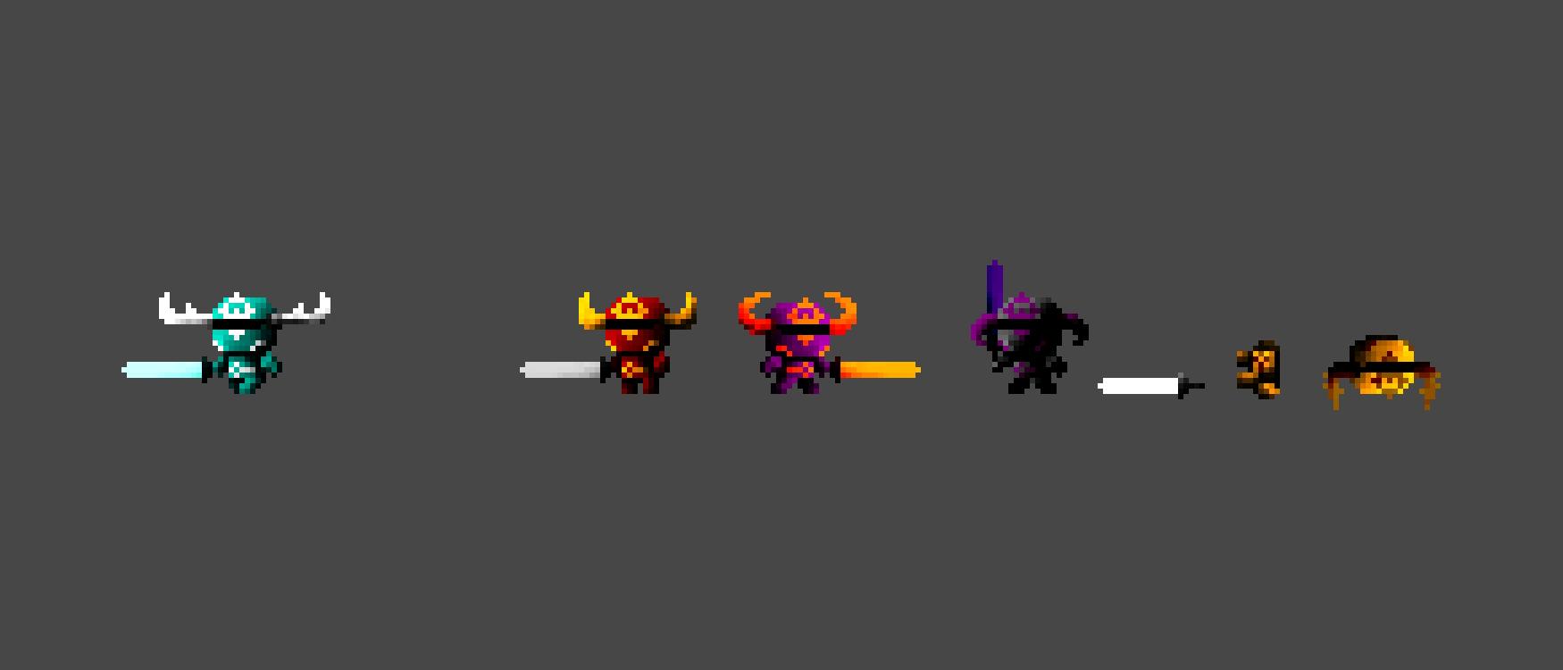 2D Pixel Knight Asset Pack