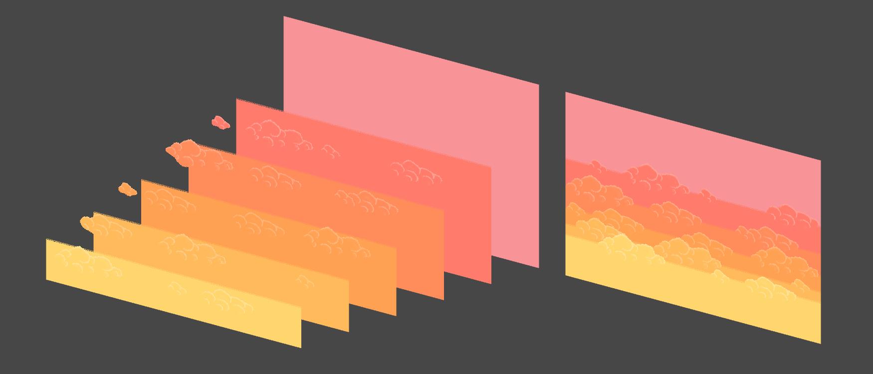 2D Pixel Sky Asset Pack