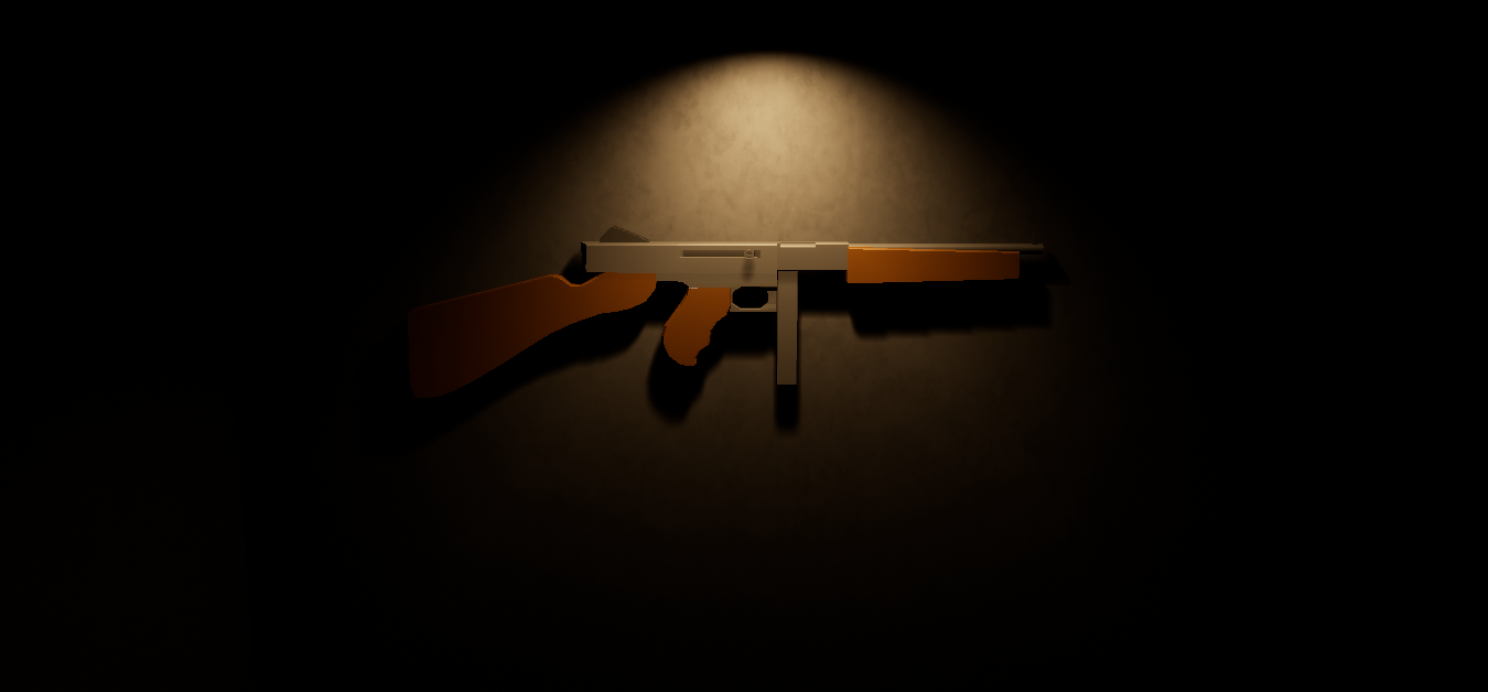 Free Low Poly WW2 Thompson smg
