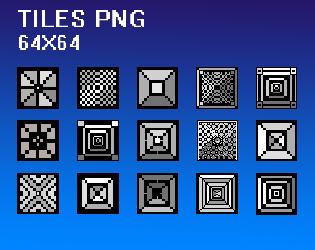 15 Black & White Tiles 64x64