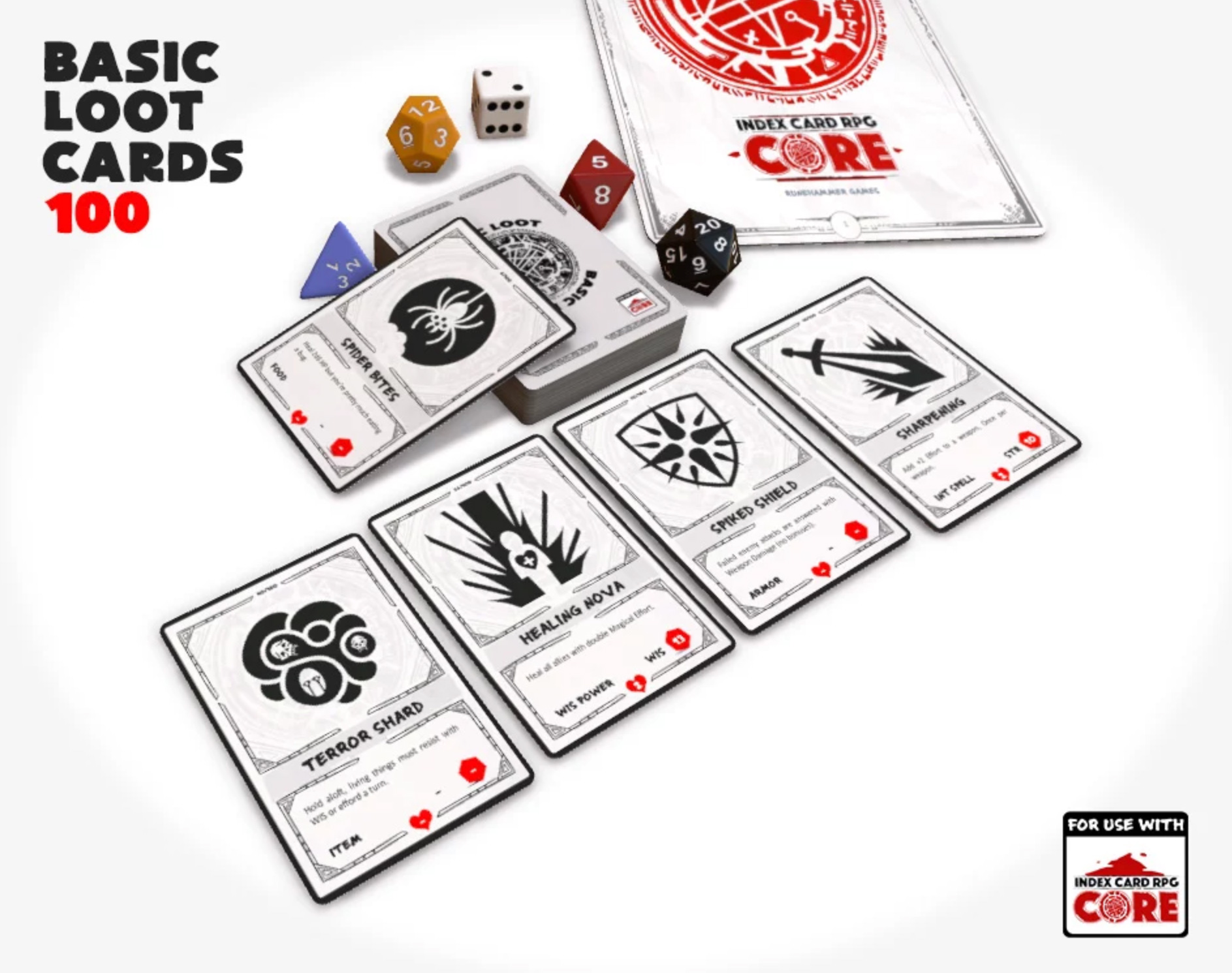ICRPG - 100 Basic Loot Cards by Delacannon