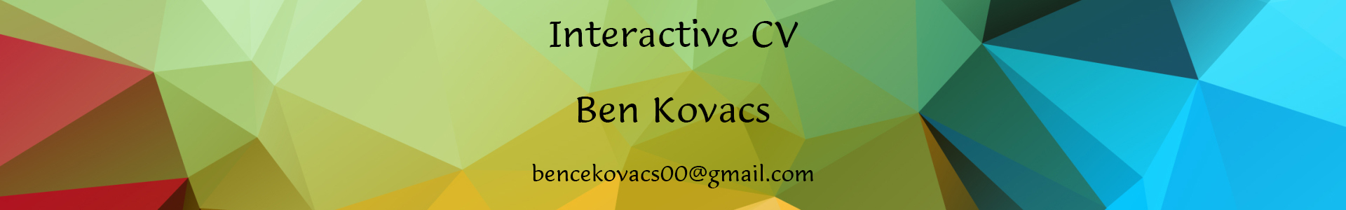 Interactive Resume Ben Kovacs