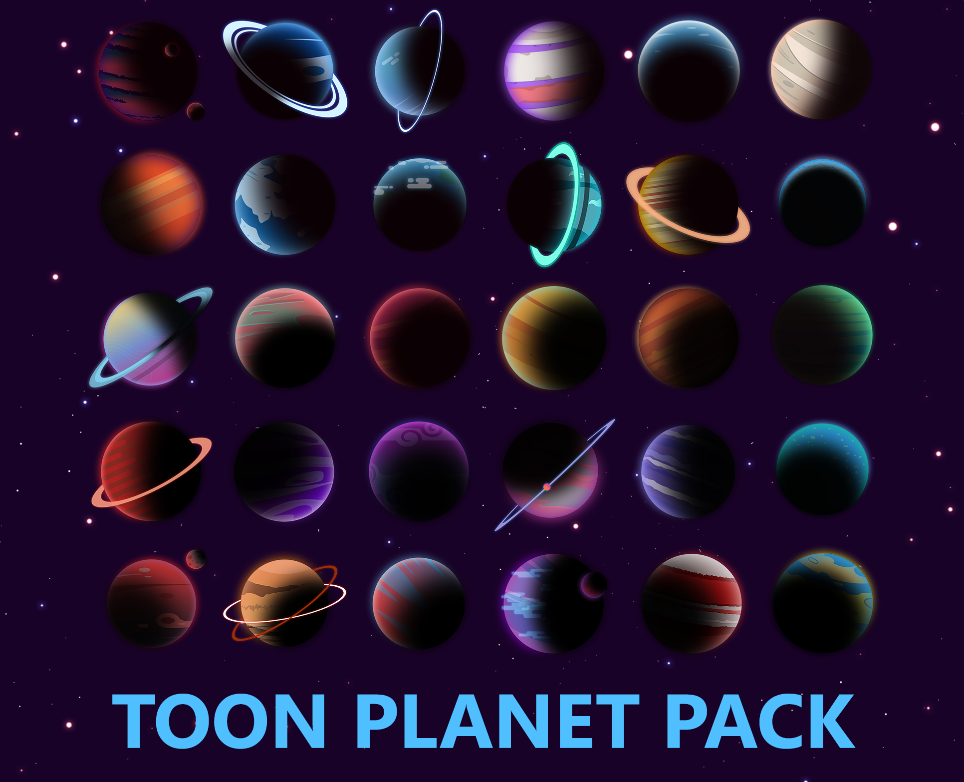 Planets with Space Background 2.0