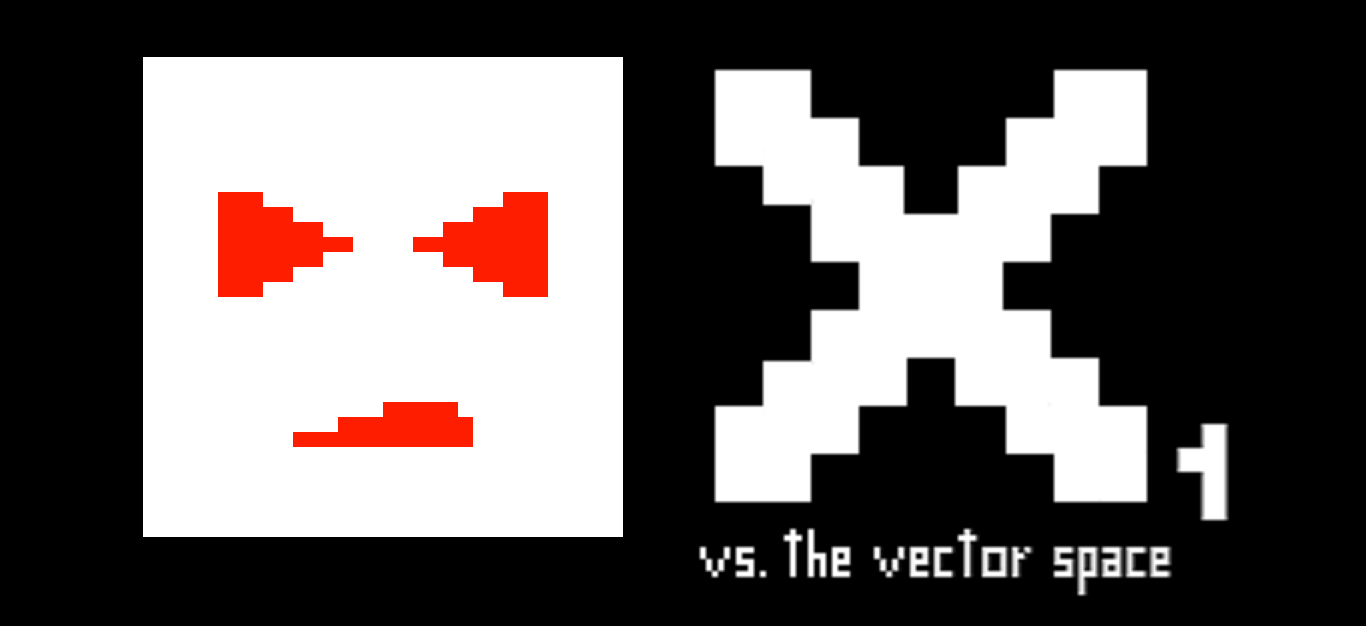 x1 vs. the vector space