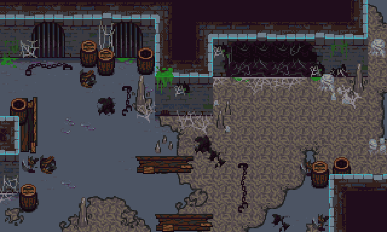 The Dark Dungeon Expanded Rpg Tileset By Elisha