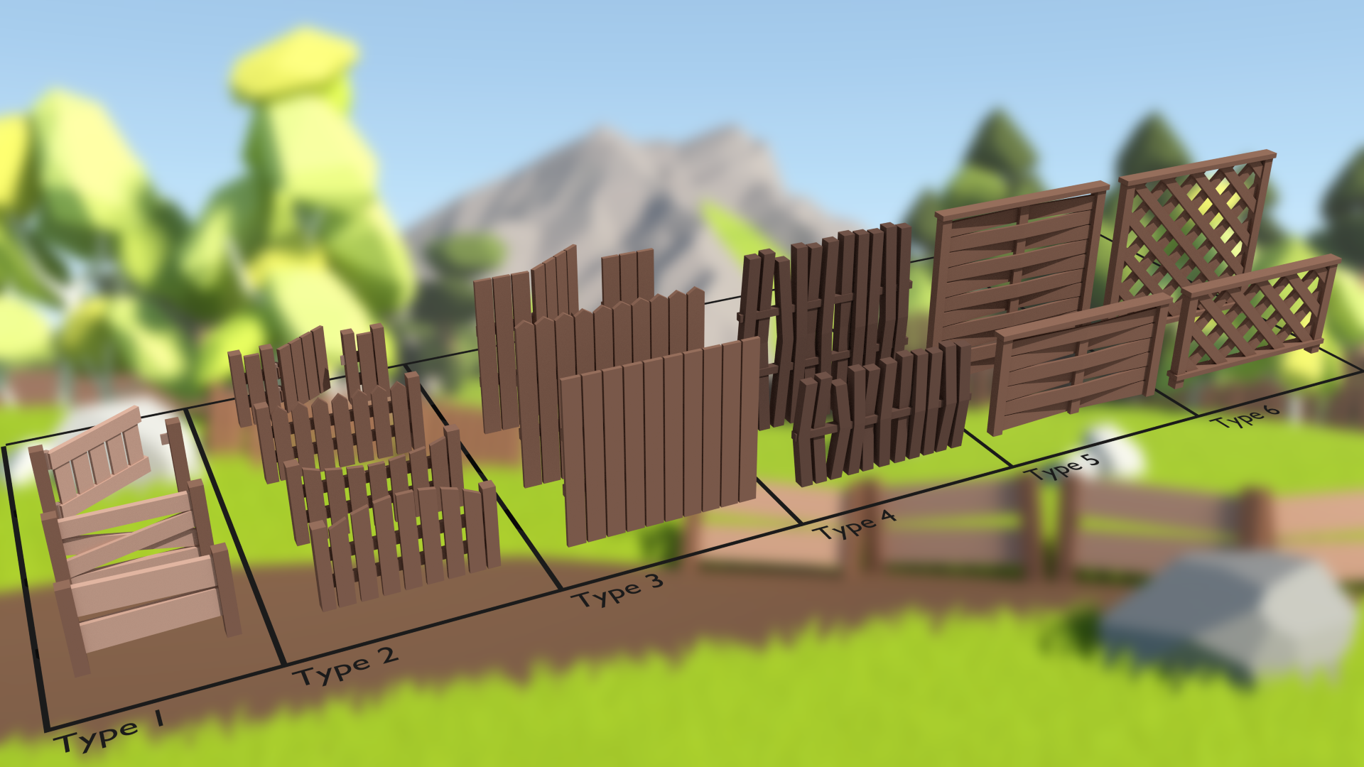 Low Poly Fence Pack by Broken Vector