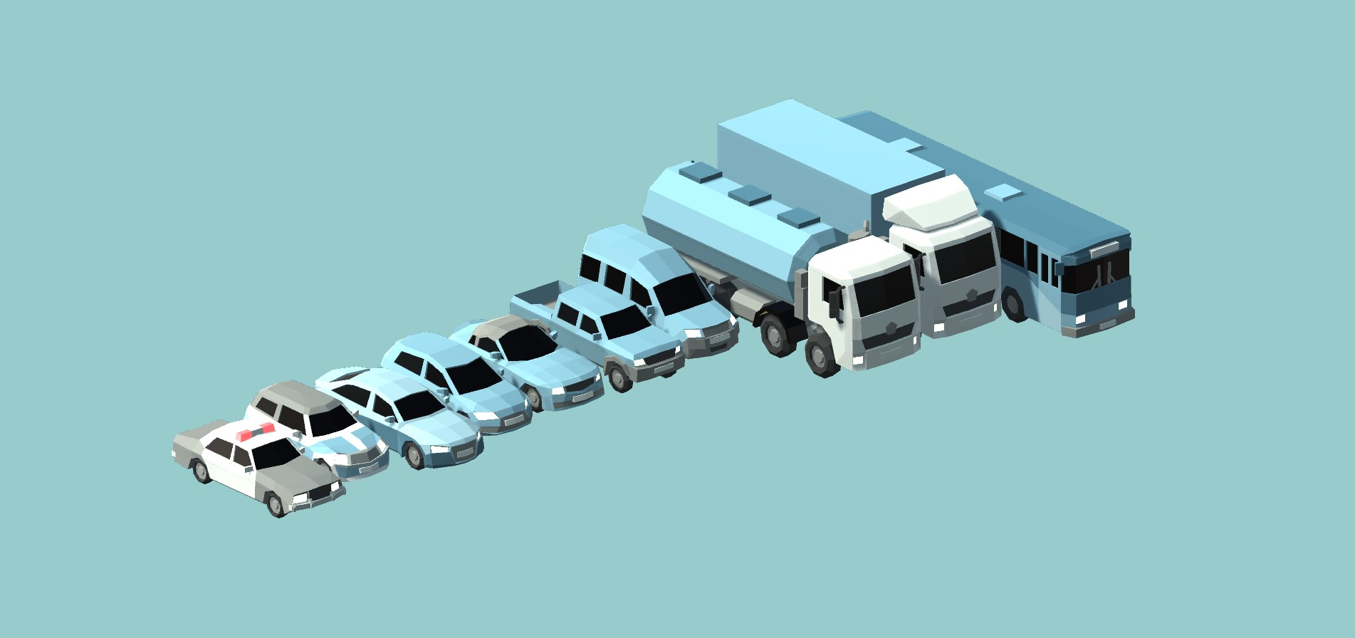 Different Types Of Cars >> Low Poly Cars by Broken Vector