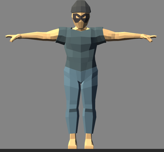 Low Poly Character Rigged for Unity*UPDATED!* by HCG