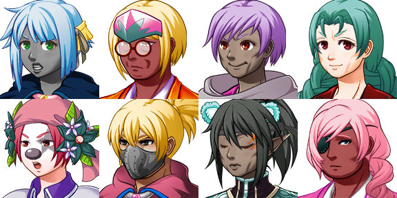 RPG Maker MV Free Characters by Lanto (SinisterMuffin)