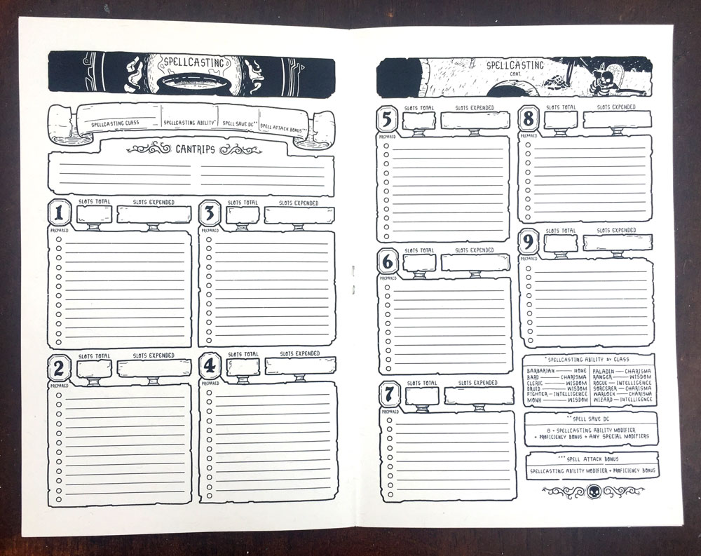 best d&d 5e character sheet pdf