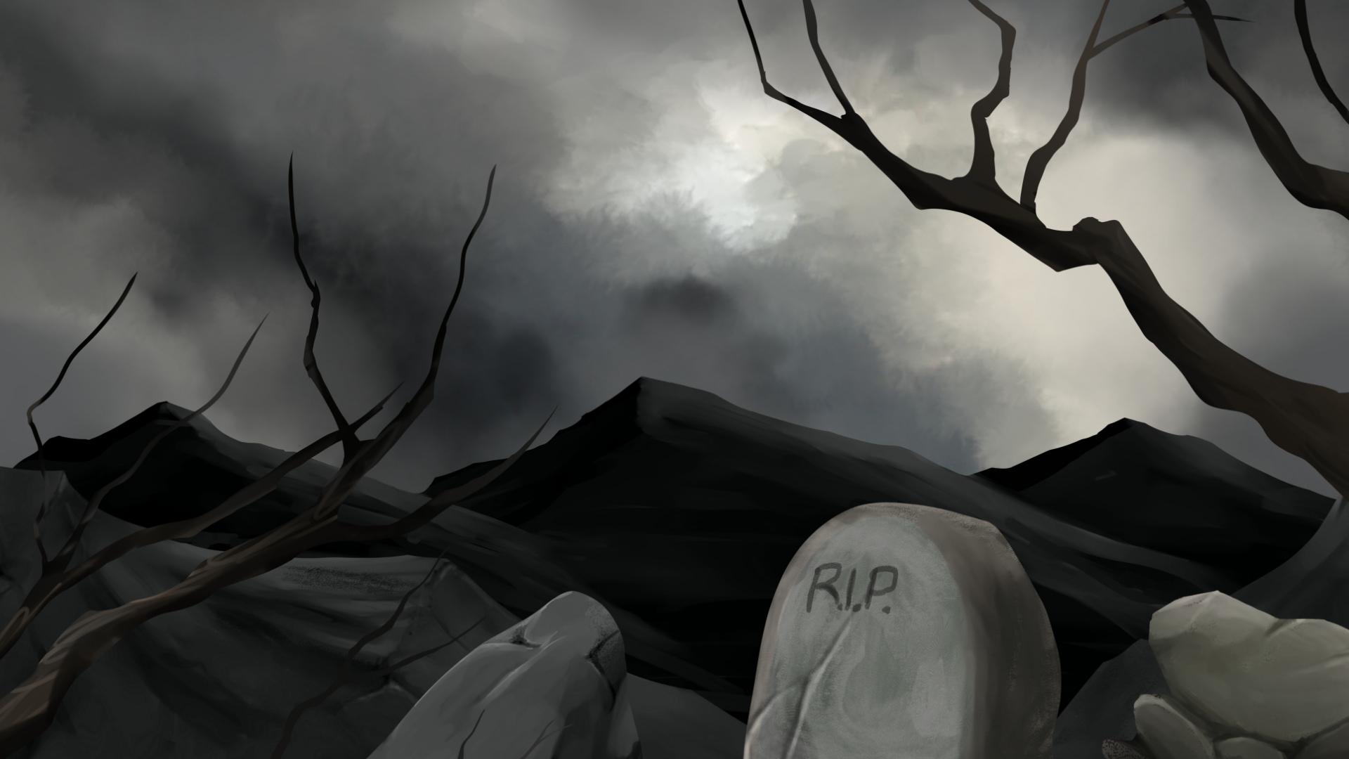 2D Graveyard Side Scrolling Platformer Pack by Super