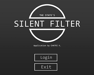 Silent Filter by Chatri K  for Gr8ArtGames - Bangkok - itch io