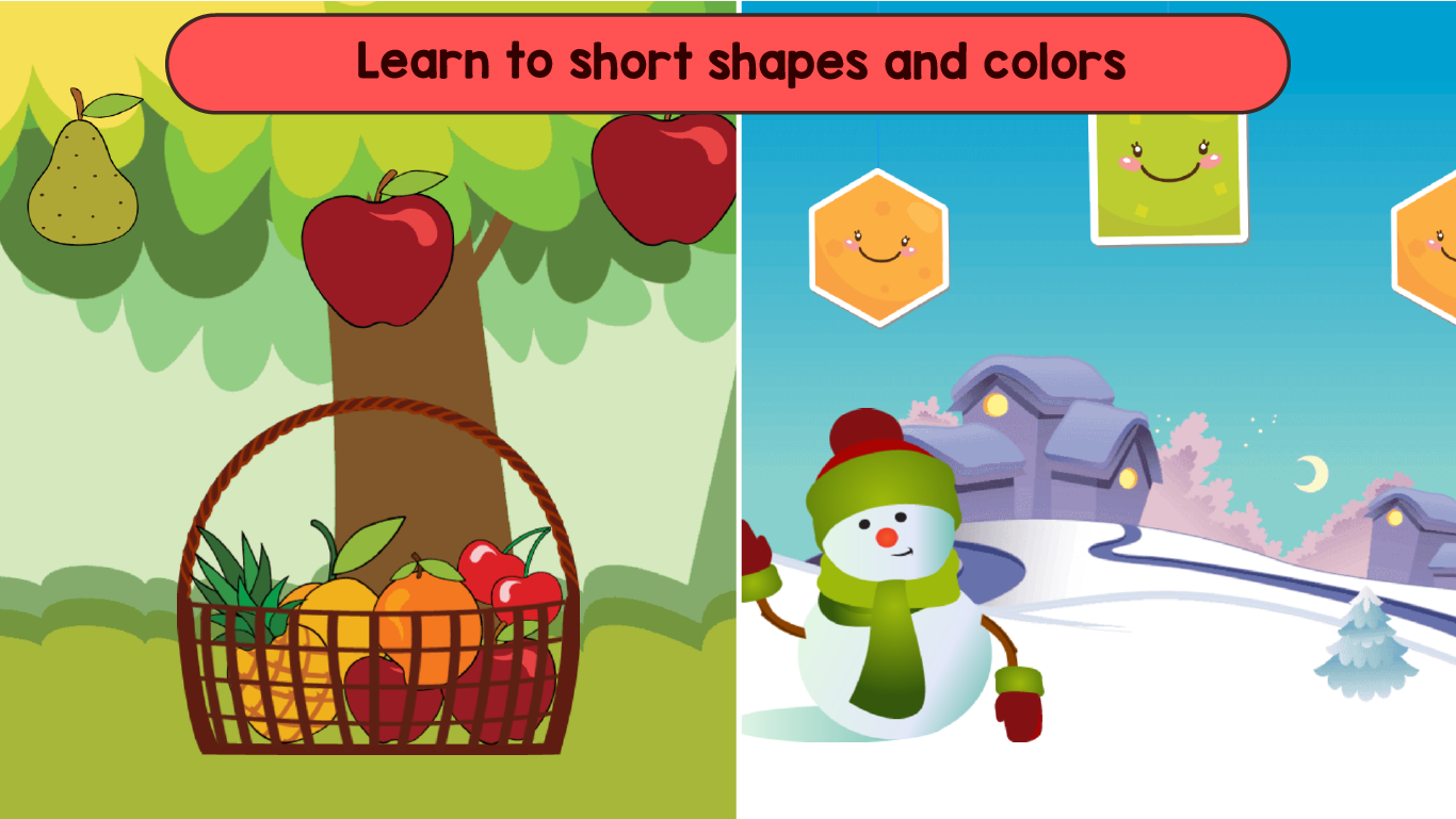 Kids Shapes & Colors Learning Games for Toddlers by greysprings