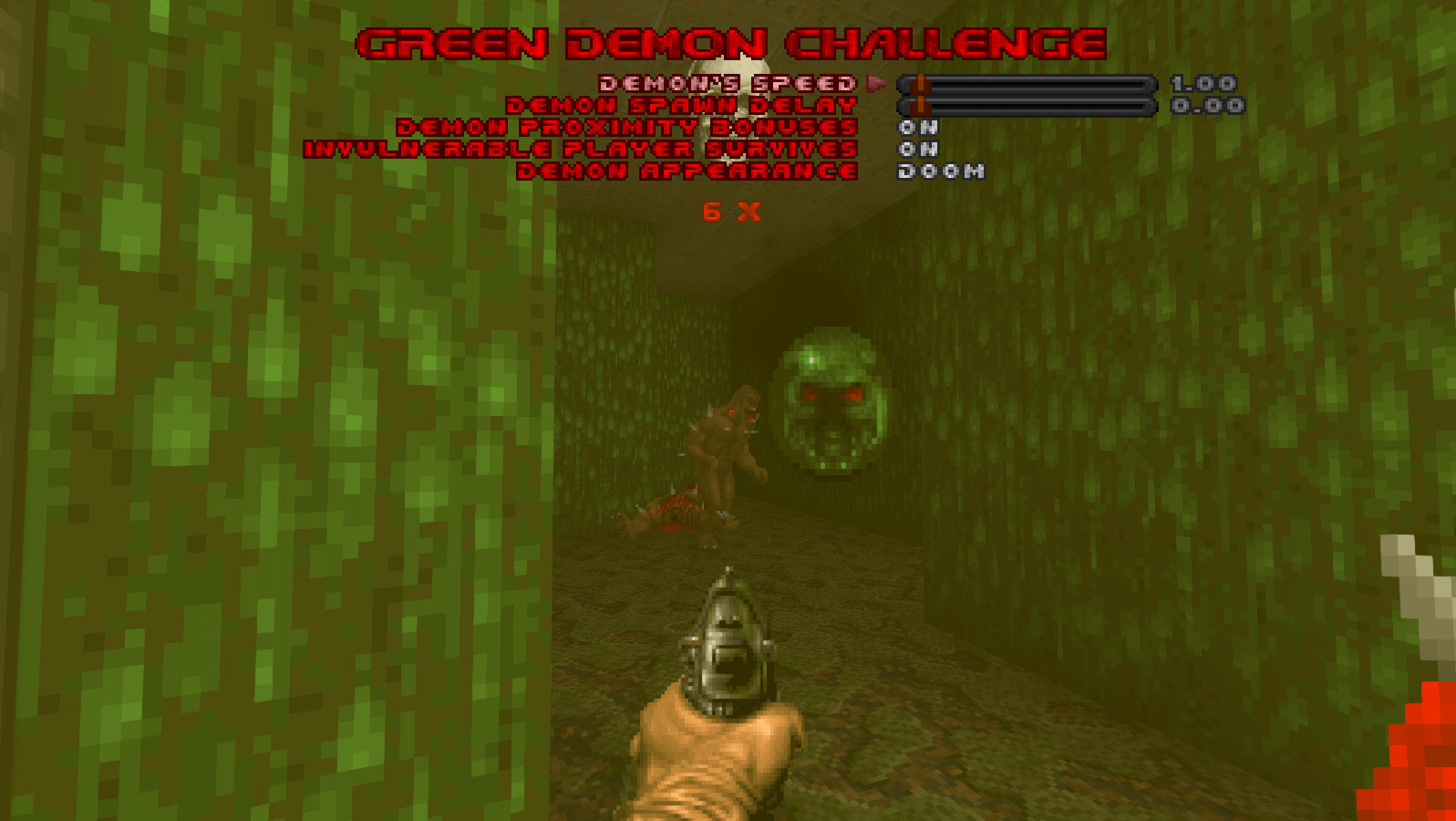 Green Demon Challenge mod for GZDoom by JP LeBreton