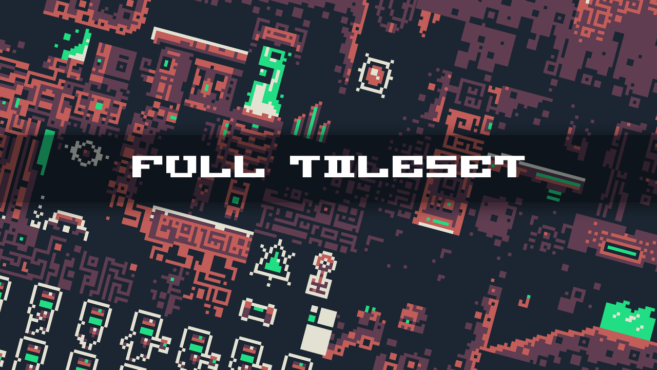 Mythical Sci-Fantasy tileset & sprite sheet