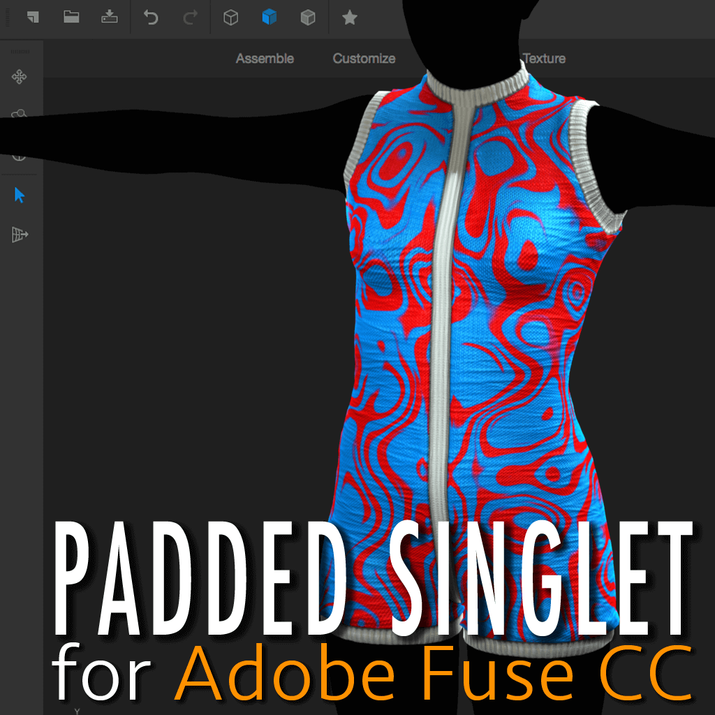 Padded Singlet for Adobe Fuse by wetcircuit