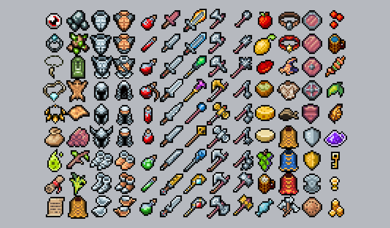 rpg items retro pack by emberheart games