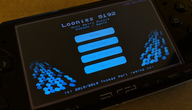 New build for DOS, PSP and 3DS - Loonies 8192 by thp