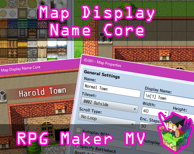 Map Display Name Core plugin for RPG Maker MV by Olivia on