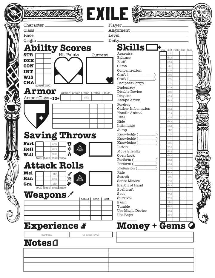 It's just a graphic of Handy D&d Printable