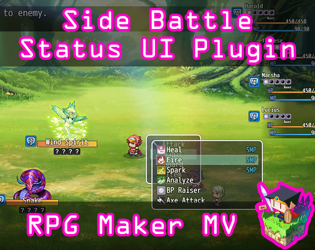Side Battle Status UI plugin for RPG Maker MV by Olivia