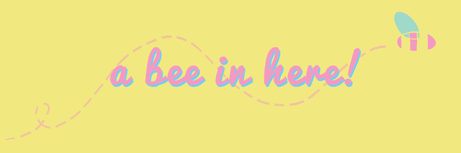 a bee in here!