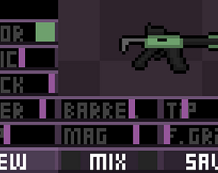 Pixel art Gun Generator by Wubs for GM's Hammer Jam - itch io