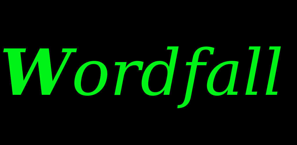 Wordfall