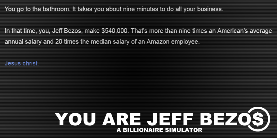 You Are Jeff Bezos by Kris Ligman