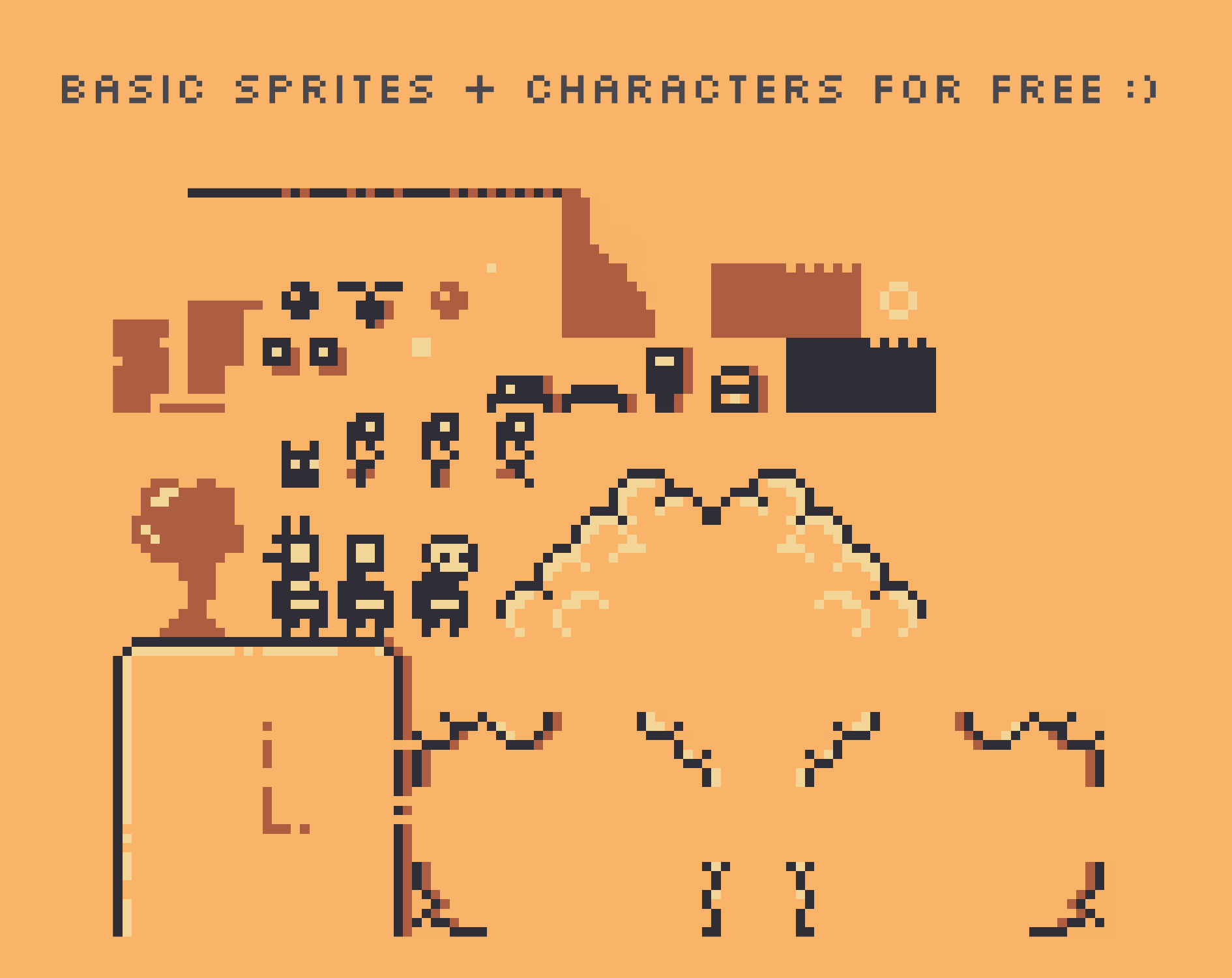 A Free 8x8 Pixelart Spritesheet For Easy Mockups Or Extension Its Non Commercial Use Also Editing Just Get In Contact