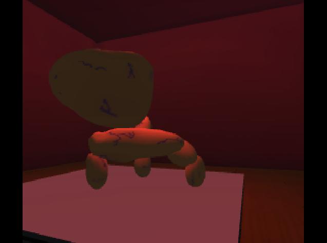 Screenshot of first creature