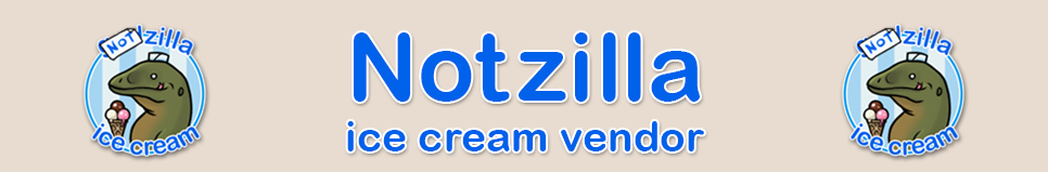 NotZilla Ice Cream Vendor