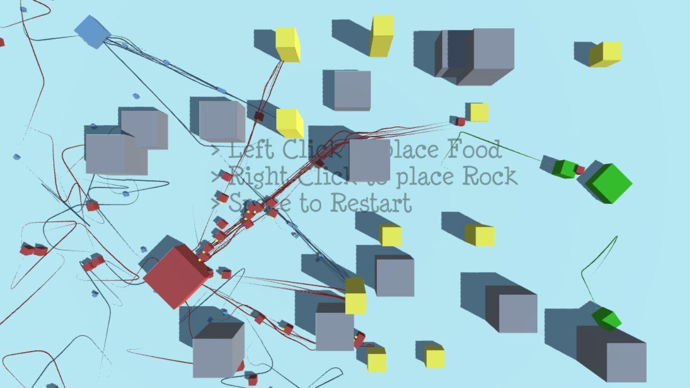 Ant Colony Sim by Daniel Dababneh, Honey CMB, Luke_Uritescu
