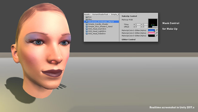 Human shaders for Unity - Character Shader Pack 1 - Skin