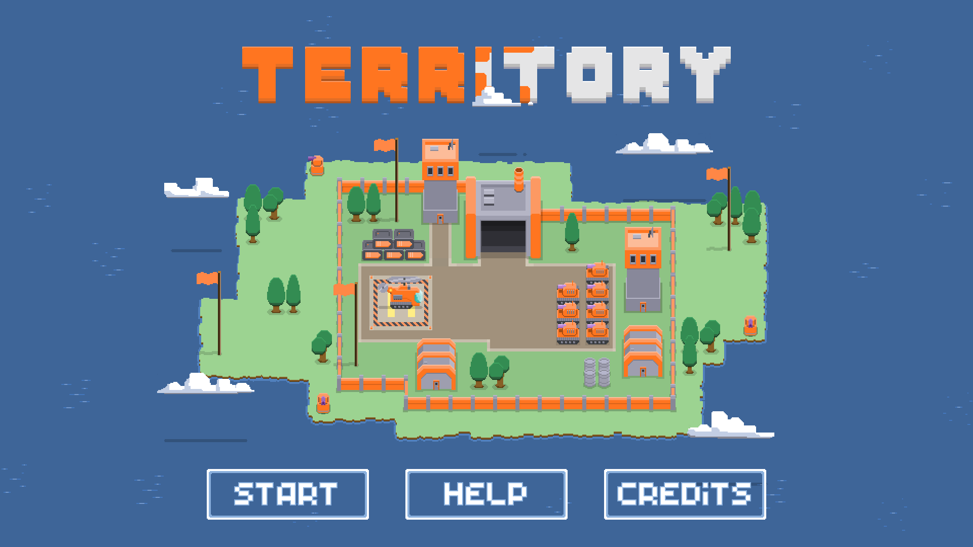 Screenshot showing Territory's opening title screen.