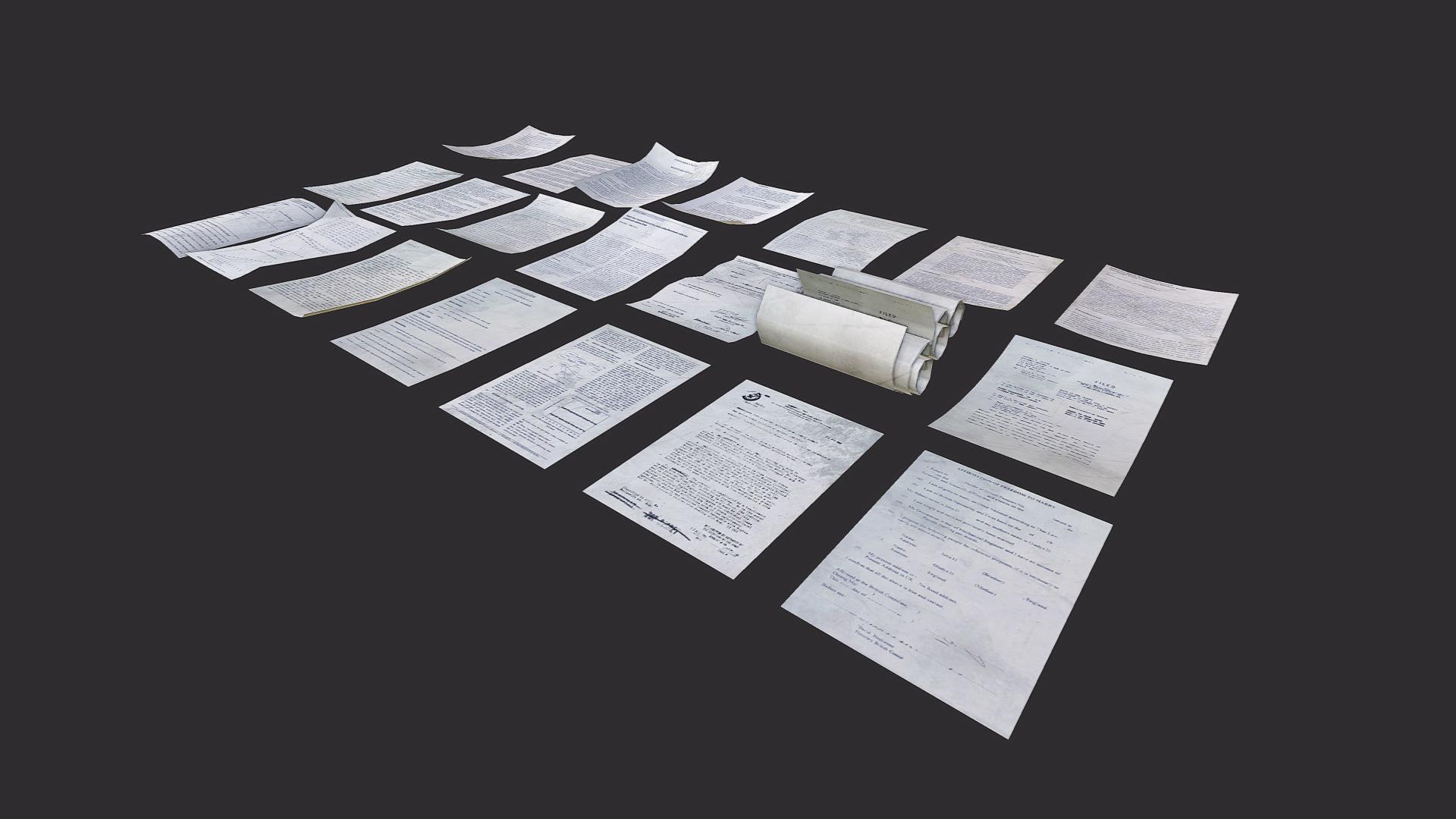 Paper Debris Asset by GamePoly