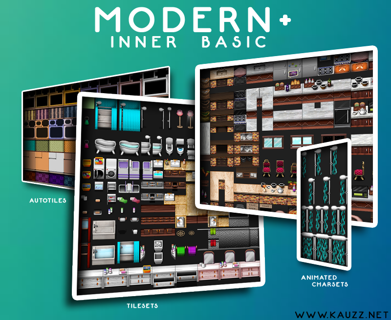 Modern+ Inner Basic Tiles (32x32) by Kauzz