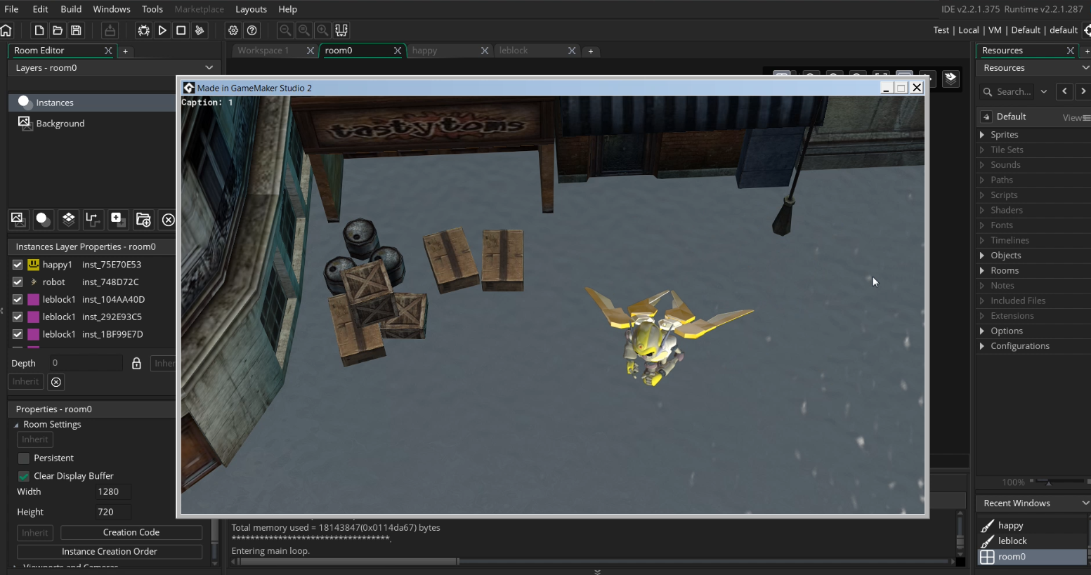 Animation project iClone 7 GameMaker Studio 2- working file