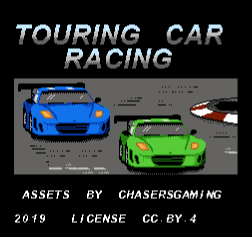 Racing Asset Pack 'Touring Car' NES (top down) by Chasersgaming