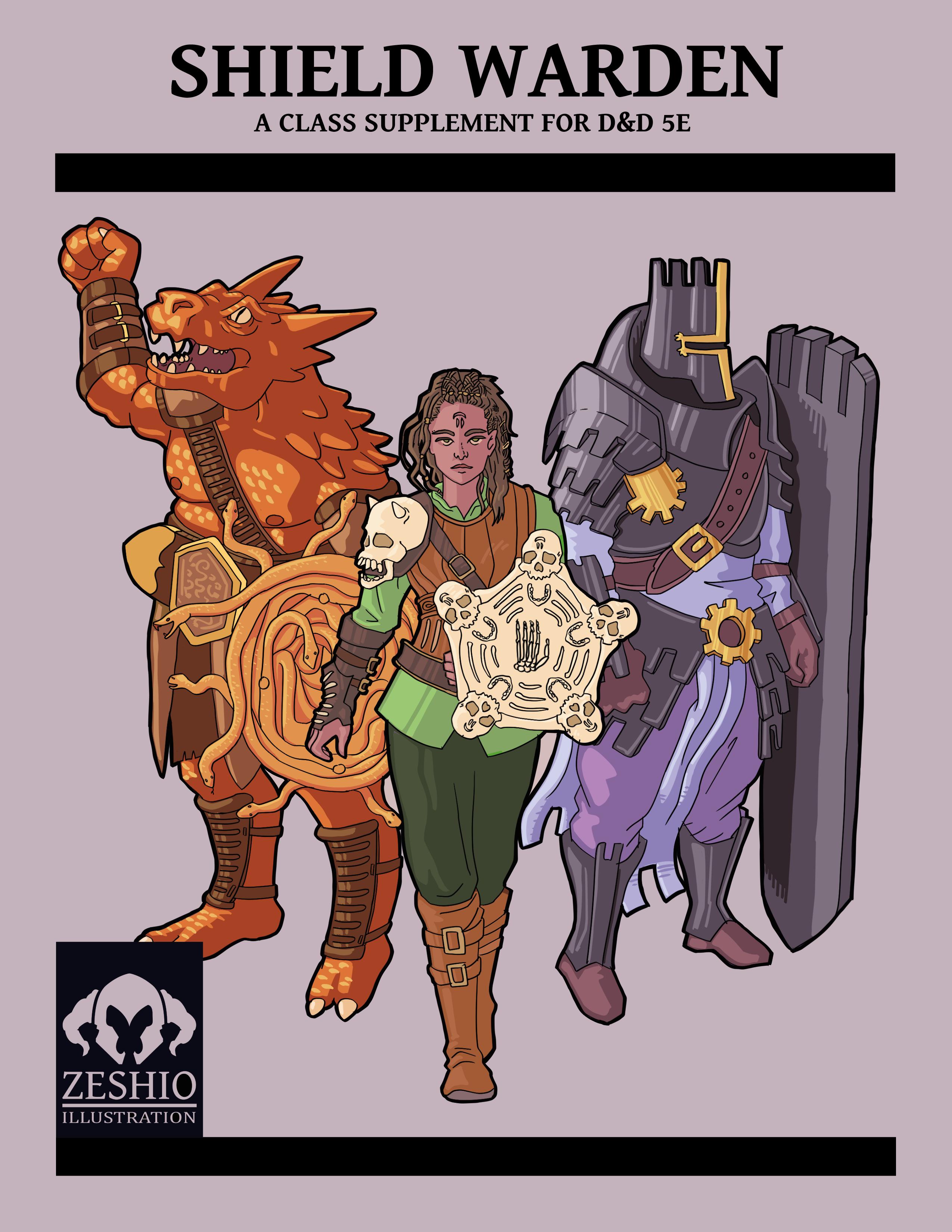 Zeshio's Shield Warden (D&D 5E Homebrew) by Zeshio