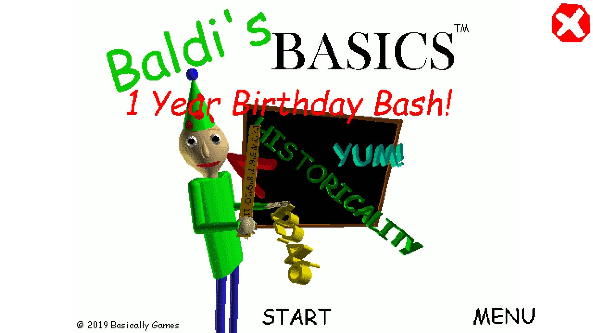 Baldi's Basics Birthday Bash by mystman12
